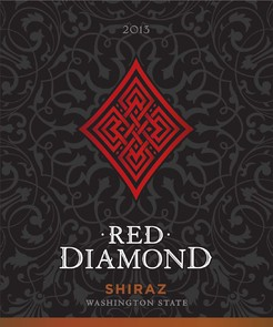 Red Diamond Shiraz Label