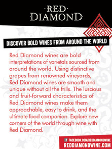 Red Diamond Handout Card/ Waitstaff Card