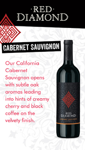Red Diamond Cabernet Sauvignon Waitstaff Card