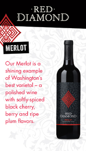 Red Diamond Merlot Waitstaff Card