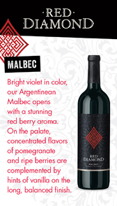 Red Diamond Malbec Waitstaff Card