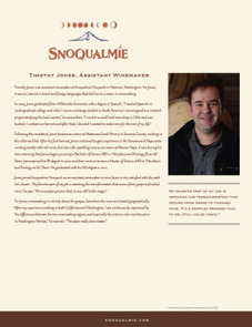 Snoqualmie Assistant Winemaker Timothy Jones