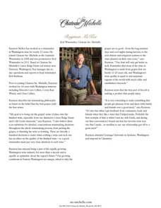 Chateau Ste. Michelle Red Winemaker Raymon McKee