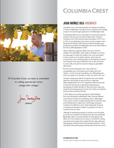 Juan Muñoz-Oca, Head Winemaker, Columbia Crest