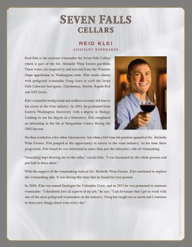 Seven Falls Assistant Winemaker Reid Klei