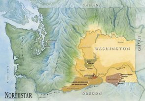Northstar Vineyard Sourcing Map Key vineyard sites in Walla Walla and Columbia Valleys
