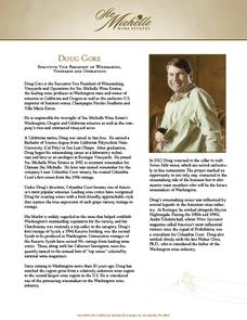 Seven Falls Winemaker Doug Gore