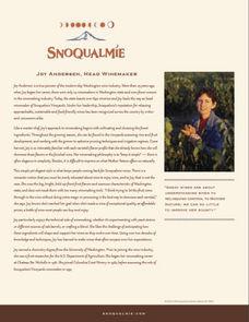Snoqualmie Winemaker Joy Andersen