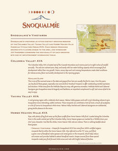 Snoqualmie Vineyards