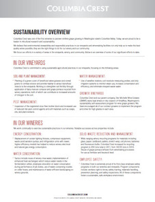 Columbia Crest Sustainability Overview