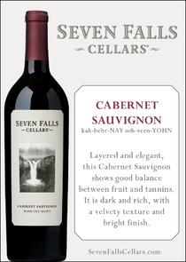 Seven Falls Cabernet Sauvignon Tasting Card
