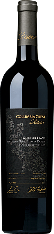 Columbia Crest 2016 Reserve Andrews Horse Heaven Ranch Vineyard Cabernet Franc Horse Heaven Hills Horse Heaven Hills Alternative Bottle Shot