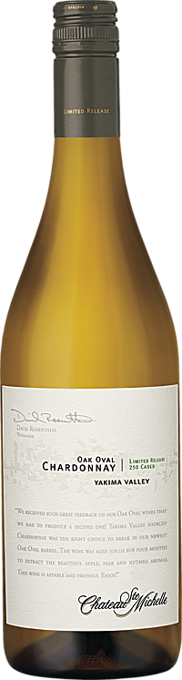 Chateau Ste. Michelle Oak Oval Chardonnay Limited Release Bottle