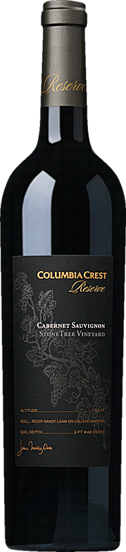 Columbia Crest Reserve Cabernet Sauvignon Stone Tree Vineyard Bottle Alternative Bottle Shot