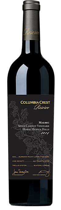 Columbia Crest 2014 Reserve Malbec, Spice Cabinet Vineyard Horse Heaven Hills Alternative Bottle Shot