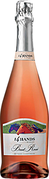 14 Hands Winery Brut Rosé Bottle