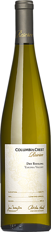 Columbia Crest Reserve Dry Riesling Yakima Valley Alternative Bottle Shot