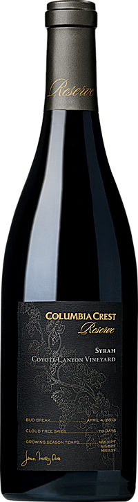 Columbia Crest Reserve Syrah Coyote Canyon Vineyard Horse Heaven Hills Alternative Bottle Shot