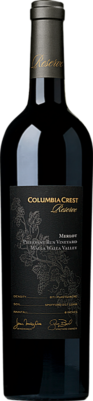Columbia Crest Reserve Merlot Pheasant Run Vineyard Bottle Alternative Bottle Shot