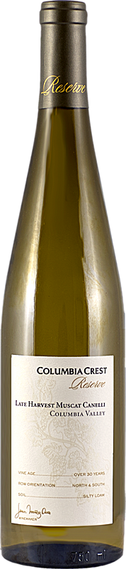 Columbia Crest Reserve Late Harvest Muscat Canelli Columbia Valley