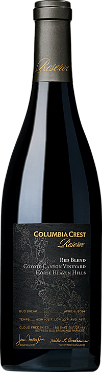 Columbia Crest Reserve Red Wine Blend Coyote Canyon Vineyard Horse Heaven Hills Alternative Bottle Shot