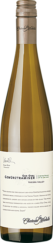 Chateau Ste. Michelle 2016 Limited Release Oak Oval Gewürztraminer Yakima Valley
