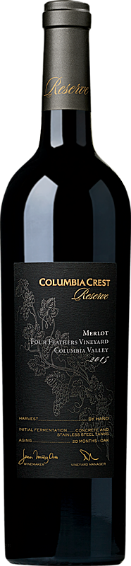Columbia Crest 2015 Reserve Four Feathers Merlot Columbia Valley Alternative Bottle Shot