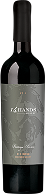 14 Hands 2015 Vintage Series Red Wine Blend Label 3 Columbia Valley