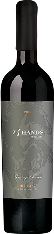14 Hands 2015 Vintage Series Red Wine Blend Label 3 Columbia Valley