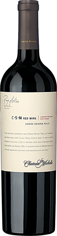 Chateau Ste. Michelle C-S-M Red Wine Limited Release Bottle