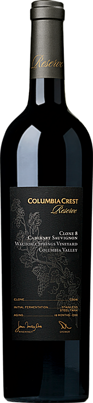 Columbia Crest Reserve Cabernet Sauvignon Wautoma Springs Vineyard Clone 8 Columbia Valley Alternative Bottle Shot