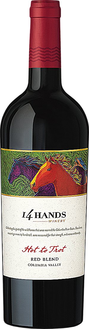 "14 Hands 2014 ""Hot to Trot"" Smooth Red Wine Blend Columbia Valley"
