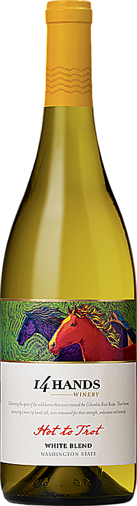 """14 Hands 2015 """"Hot to Trot"""" White Wine Blend Washington State"""