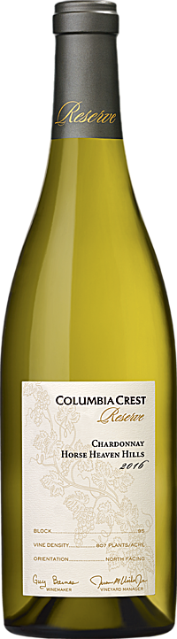Columbia Crest 2016 Reserve Chardonnay Horse Heaven Hills Alternative Bottle Shot