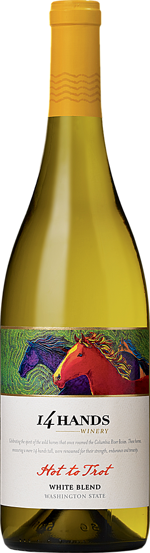 14 Hands Winery Hot to Trot White Blend Bottle