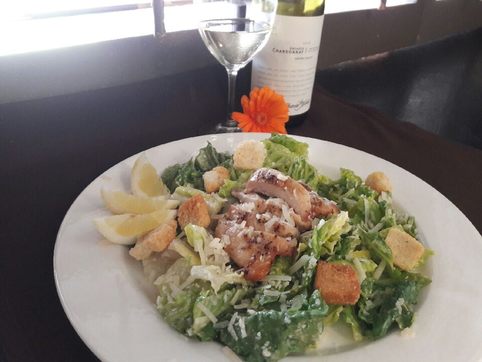 Grilled Lemon Chicken with Caesar Salad