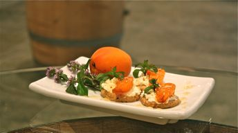 Grilled Washington Apricots with Hazelnut Shortbread