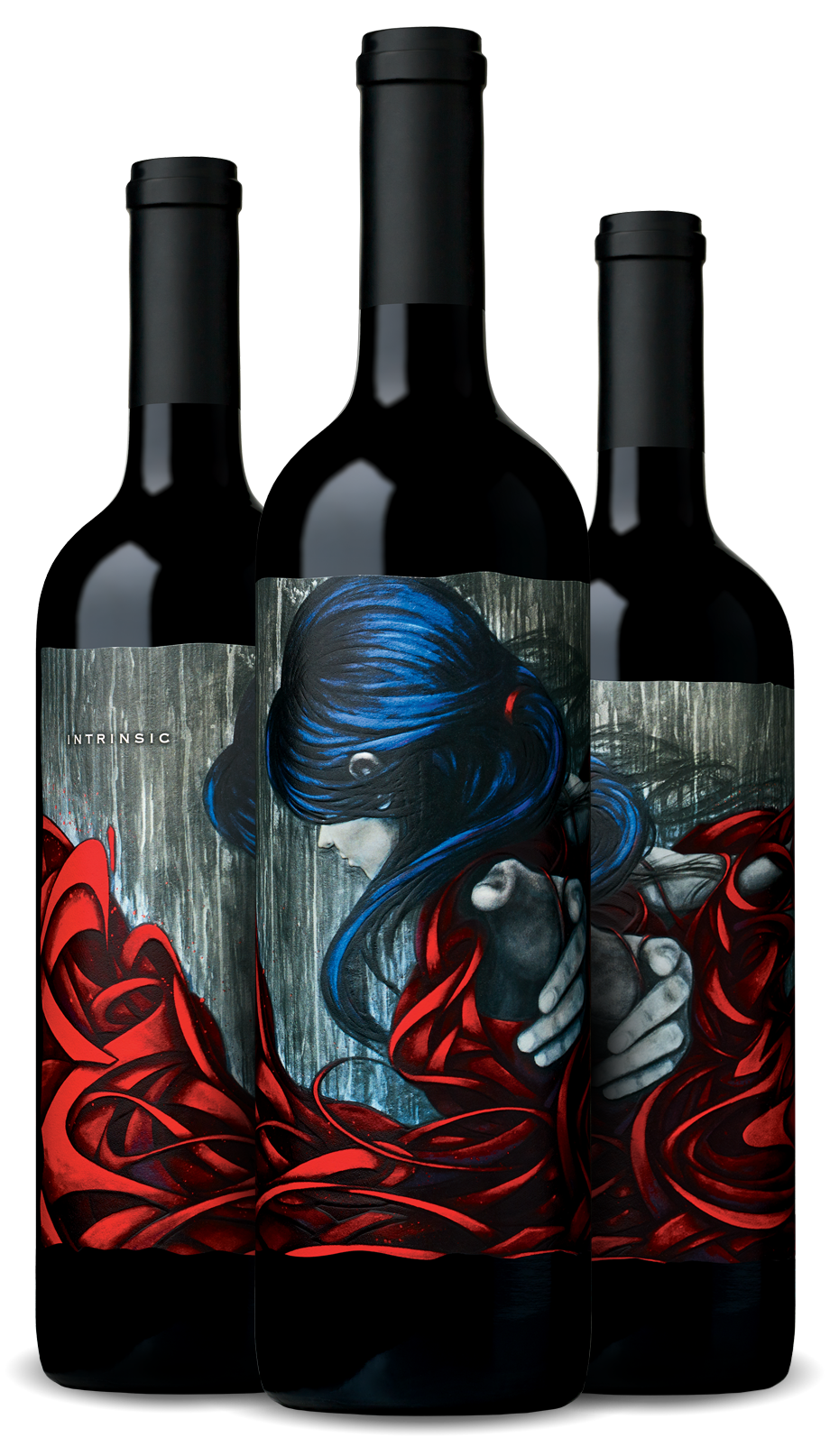 3-bottle image of Red Blend