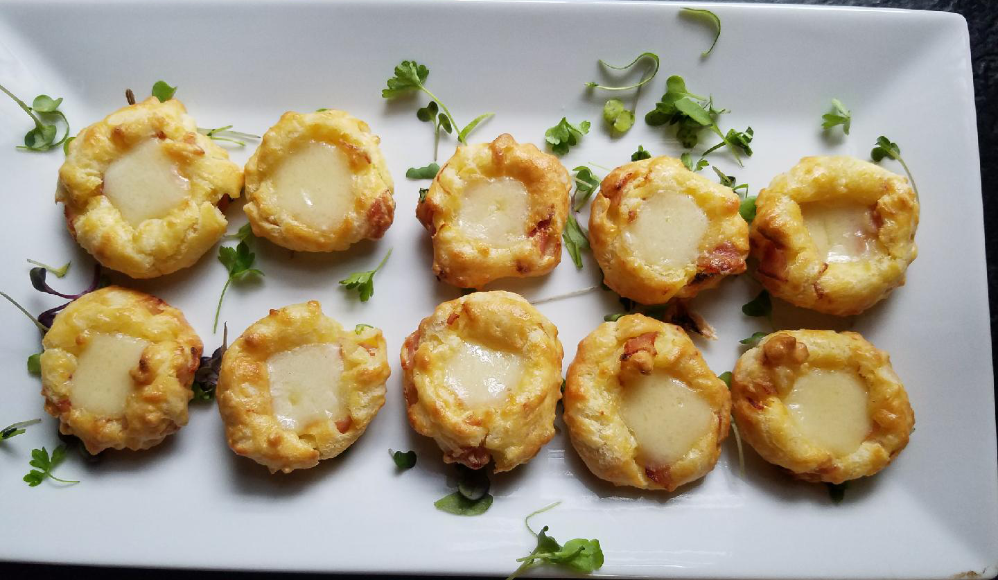 Ham and Cheese Thumbprint Pastries