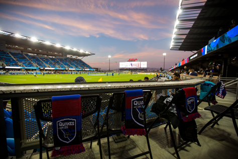 Game day suite at San Jose Earthquakes