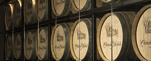 Ste. Michelle wine barrels
