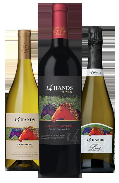 14 Hands Chardonnay, Cabernet Sauvignon, Brut