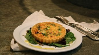 Smoked Salmon & Asparagus Quiche