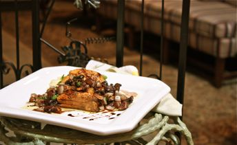 Grilled Salmon with Grilled Balsamic Mushrooms
