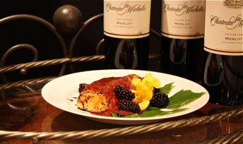 Grilled King Salmon with Blackberry-Merlot Beurre Rouge