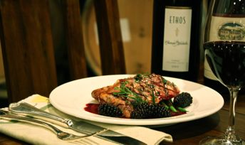 Wild King Salmon with Blackberries