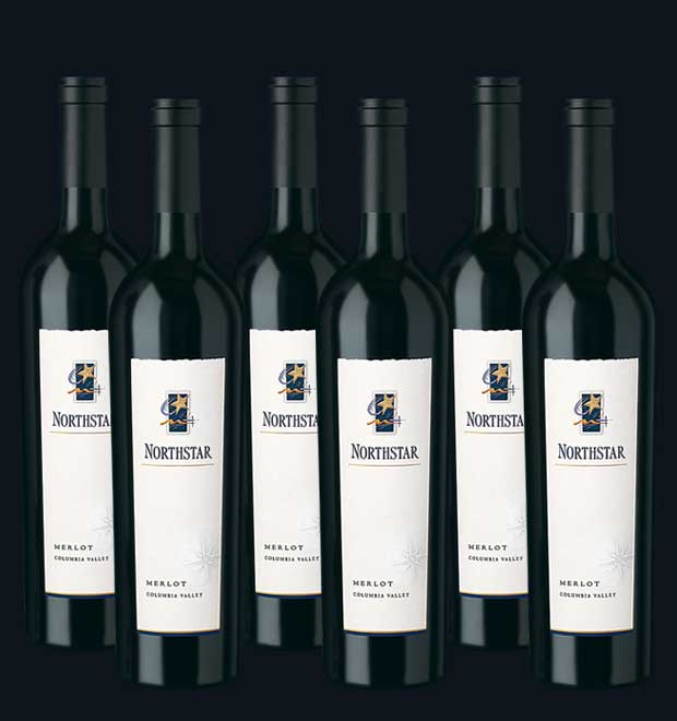 6 bottles of Columbia Valley Merlot