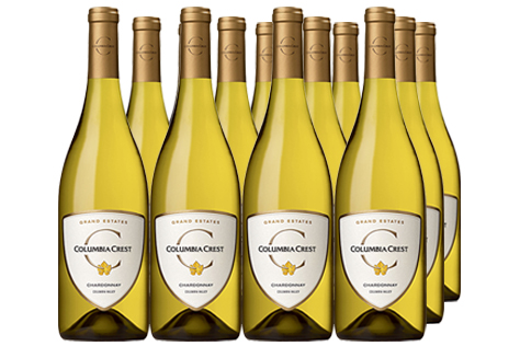 12 bottles of Grand Estates Chardonnay