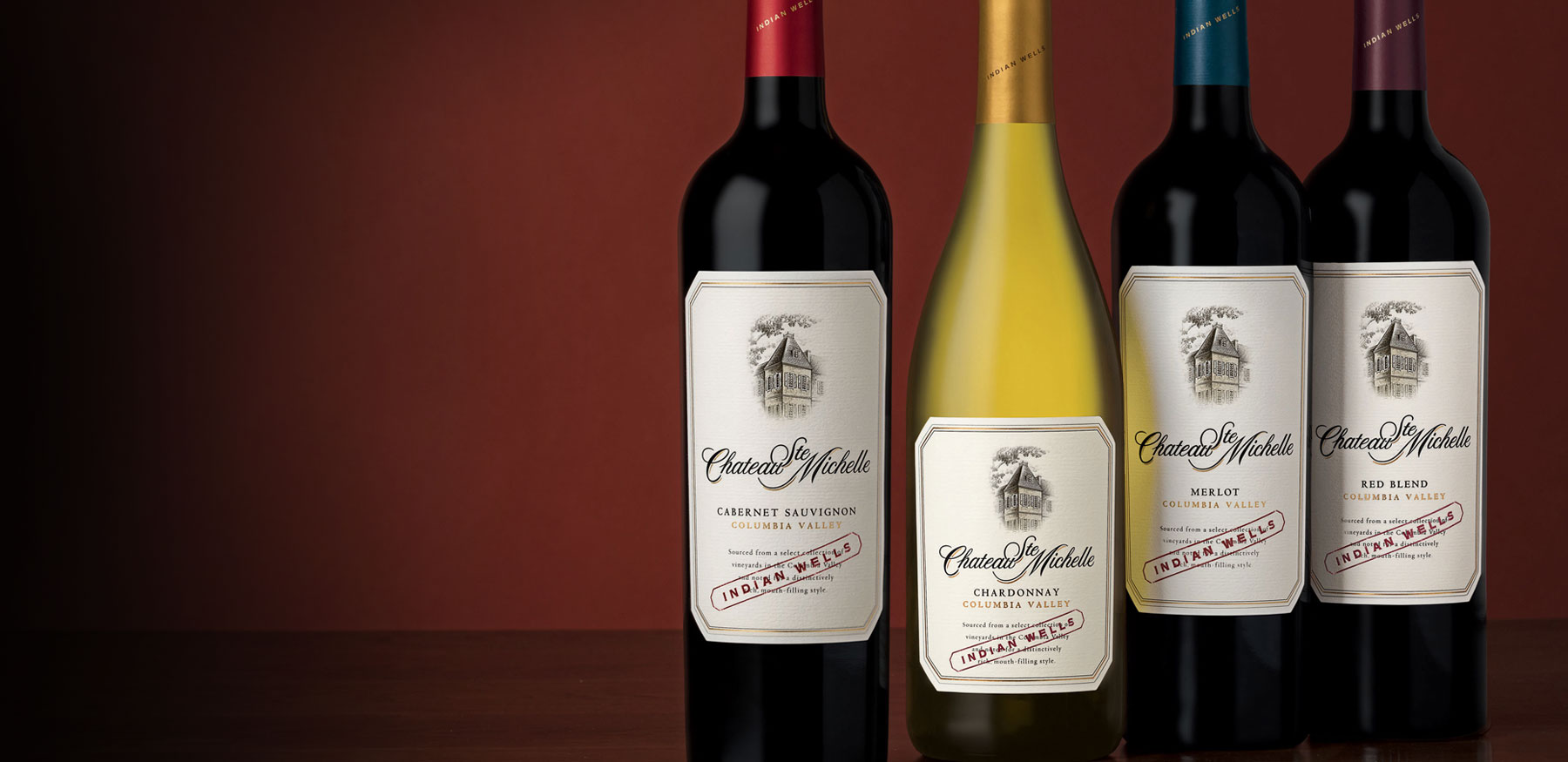 4 bottles of Indian Wells wines
