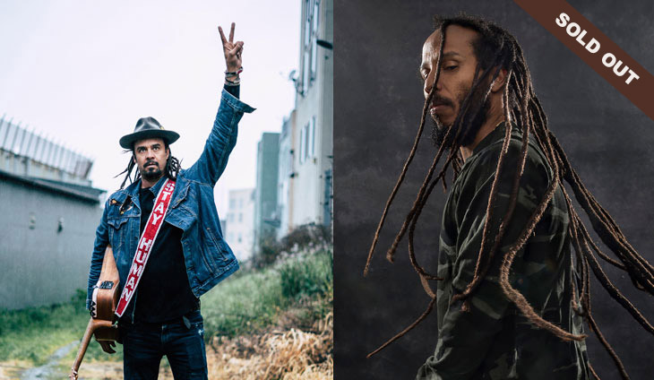 Michael Franti & Ziggy Marley with a sold out banner